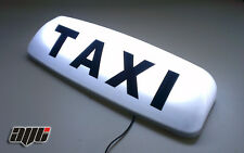 "24"" LED MAGNETIC TAXI ROOF SIGN WHITE  AERODYNAMIC TAXI METER TOP SIGN CAB LIGHT"