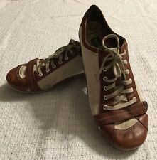 Women's Solid Beige/Brown Merrell Q Form Canvas/Leather Sneakers Size 10