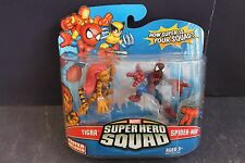 "SEALED MARVEL SUPER HERO SQUAD 2 PACK 2"" FIGURES TIGRA SPIDERMAN MOC HASBRO 2008"