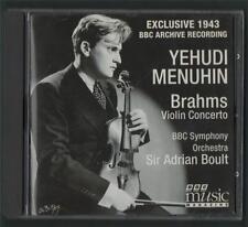 Yehudi Menuhin Brahms Violin Concerto Boult BBC Symphony Orchestra CD.  y1.70