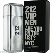 212 VIP MEN Carolina Herrera 3.4 oz ( 100 ml ) EDT Spray MEN NEW IN BOX SEALED