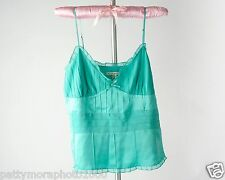 SALE Womens Silk Pastel Turquoise Top, Pretty and Feminine Womens size Small