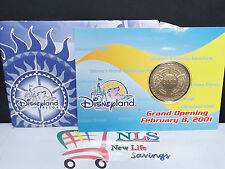 "NEW Disneyland Resort grand opening February 8, 2001 gold coin-2 """
