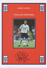 LUKE YOUNG Signed 12x8 Print CHARLTON ATHLETIC FC & ENGLAND COA