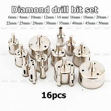 16pcs 6-50mm Diamant Bohrkrone Lochbohrer Lochsäge Fliesen Marmor Werkzeug
