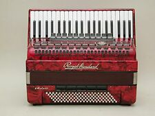Excellent German Piano Accordion Royal Standard Meteor 120 Bass With Case .