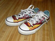 VINTAGE PEACE AND LOVE WOMENS  CONVERSE CHUCK TAYLOR ALL STAR SNEAKERS SIZE 5