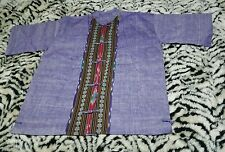 Womens Large Purple Indian Kurti Inspired Tunic Blouse Top Design Large Size L