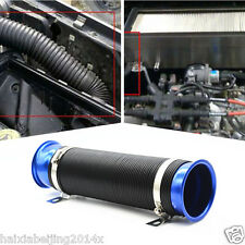 Universal Car Blue Turbo Multi Flexible Air Intake Pipe Tube Intake Inlet Hose