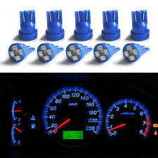 10X T10 168 Blue Gauge Instrument Cluster Speedometer Dash 4-SMD LED Light Bulbs