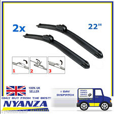 "22"" + 22"" Front Aero Flat Wiper Blades Windscreen Window Upgrade AC DELCO Pair"