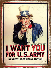 vintage retro style I want you army poster image metal sign wall door plaque