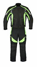 Green Motorbike Motorcycle Cordura Textile Jacket Trouser Suit CE Armours Men