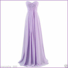 US Size 16 Long Formal Chiffon Bridesmaid Dress Evening Wedding Ball Party Gowns