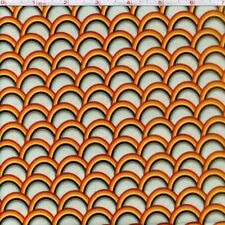 "Riley Blake Unicorn Deco Rainbow Orange 100% cotton 44"" fabric by the yard"