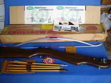 VINTAGE WHAM-O POWERMASTER HUNTING CROSSBOW #109A+ARROWS+QUIVER++NEW IN BOX