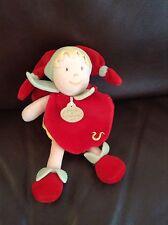 Doudou Et Compagnie Paris Red Fairy Elf Jester Baby Comforter Soft Toy Plush D&C