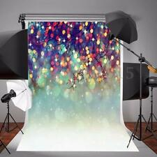 5x7ft Christmas Fireworks Sea Vinyl Background Backdrop Photography Photo Props
