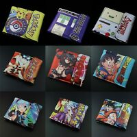NEW Death Note Doctor Who DRAGON BALL Z  totoro ONE PIECE wallet Two-Fold purse