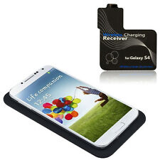Qi Wireless Charger Charging Pad + Receiver Kit for Samsung Galaxy S4 i9500 Lot