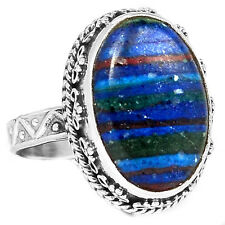 Rainbow Calsilica 925 Sterling Silver Ring Jewelry s.8 RBCR529