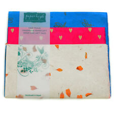 Fair Trade Lokta Paper Three Sheet Gift Wrap Pack GWP13