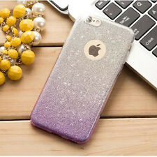 Bling Sparkle Glitter Rubber TPU Soft Phone Case Cover for iPhone 5 6 6s 7 Plus