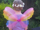 Beautiful Rainbow coloured fairy wings with glitter detail dress up costume