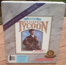 Sid Meier's Railroad Tycoon New Factory Sealed 3.5 & 5.25 HD IBM & Compatibles