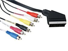 Cordon Peritel male - 6xRCA males 1.5m (Audio IN/OUT + Video IN/OUT)    CBP6RCAM