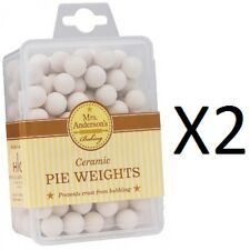 Mrs. Anderson's Ceramic Pie Weights Conducts Heat Evenly No Bubbling (2-Pack)