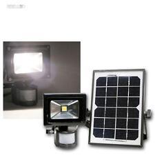 Solar LED Flutlicht-Strahler 10W mit Bewegungsmelder und Akku, Außenleuchte