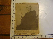 "Vintage newspaper clipping ""CASEY AT THE BAT"" Daniel M. Casey, Ernest L. Thayer"