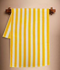 YELLOW 100% COTTON 75X150cm STRIPE STRIPE STRIPED POOL BEACH BATH TOWEL TOWELS