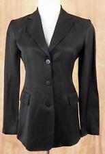 LAUNDRY by Shelli Segal~Black~Sz 4~3 Button Front~Linen Blend~Lined Blazer~USA