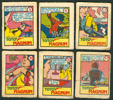 6 Vintage EXOTIC TOTOY MAGNUM Philippine TEKS / Trading Comic Cards 4