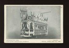 Warwicks BIRMINGHAM Decorated Tram Car Royal Visit  KEVII 1909 used PPC
