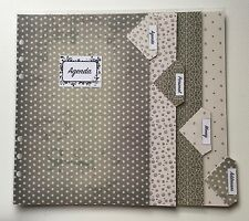 Filofax A5 Organiser Planner - Silver / Grey Labelled Dividers - Fully Laminated