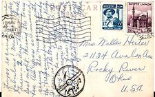 Egypt Cairo Censorship Cover to Rocky River OH USA on postcard