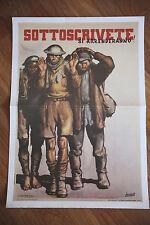 Manifesto Poster Riproduzione propaganda fascista - di Gino Boccasile