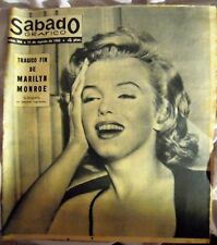 "MARILYN MONROE:VINTAGE SPANISH MAGAZINE UNIQUE COVER-""SABADO GRAFICO"" 1962-SEE!!"