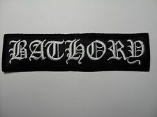 bathory  white  LOGO  SHAPED  EMBROIDERED  PATCH