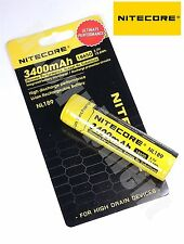 Nitecore 18650 3400 NL189 3.7v Protected NCR18650B Rechargeable Battery x4