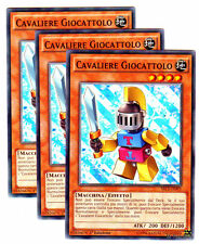 3 X CAVALIERE GIOCATTOLO Toy Knight SECE-IT093 Comune in Italiano YUGIOH