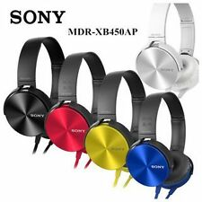 Sony MDR-XB450AP Extra Bass Smartphone Headset, Headphones with Mic All Colors