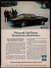 1972 PLYMOUTH Gold Duster Vintage Classic Car Photo AD
