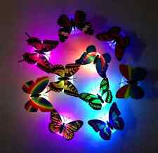 1x 7 Color Changing Beautiful Cute Butterfly LED Night Light Lamp + Suction pad