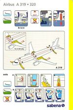 SAFETY CARD: Sabena  A319/A320  Big Issue J. Drappier