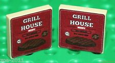 Lego 2x Tan Tile 2x2 Custom Printed With Grill House Menu Design NEW!!!
