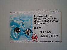 advertising Pubblicità 1975 CERIANI e MOTO KTM e GUENNADY MOISSEEV